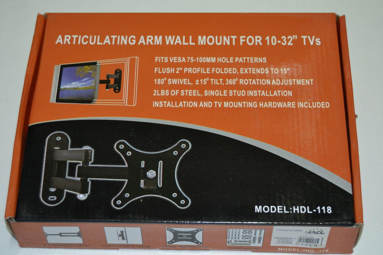 Nástěnný držák na TV 14 - 32 palců