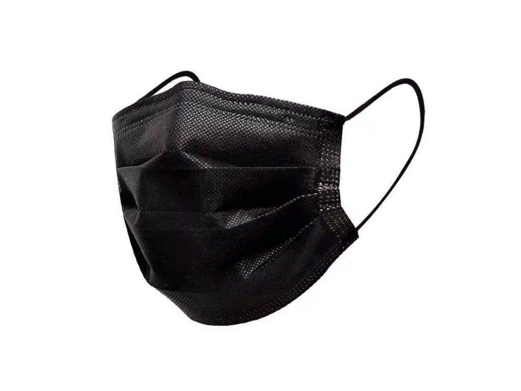 Ochranná rouška 50 ks - face mask, roušky, černé
