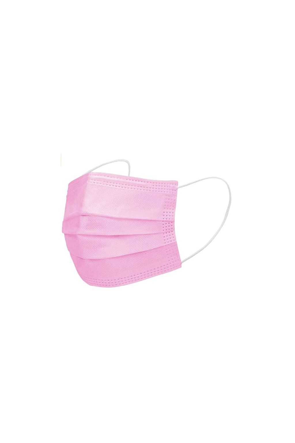Ochranná rouška 50 ks - face mask, roušky, růžové