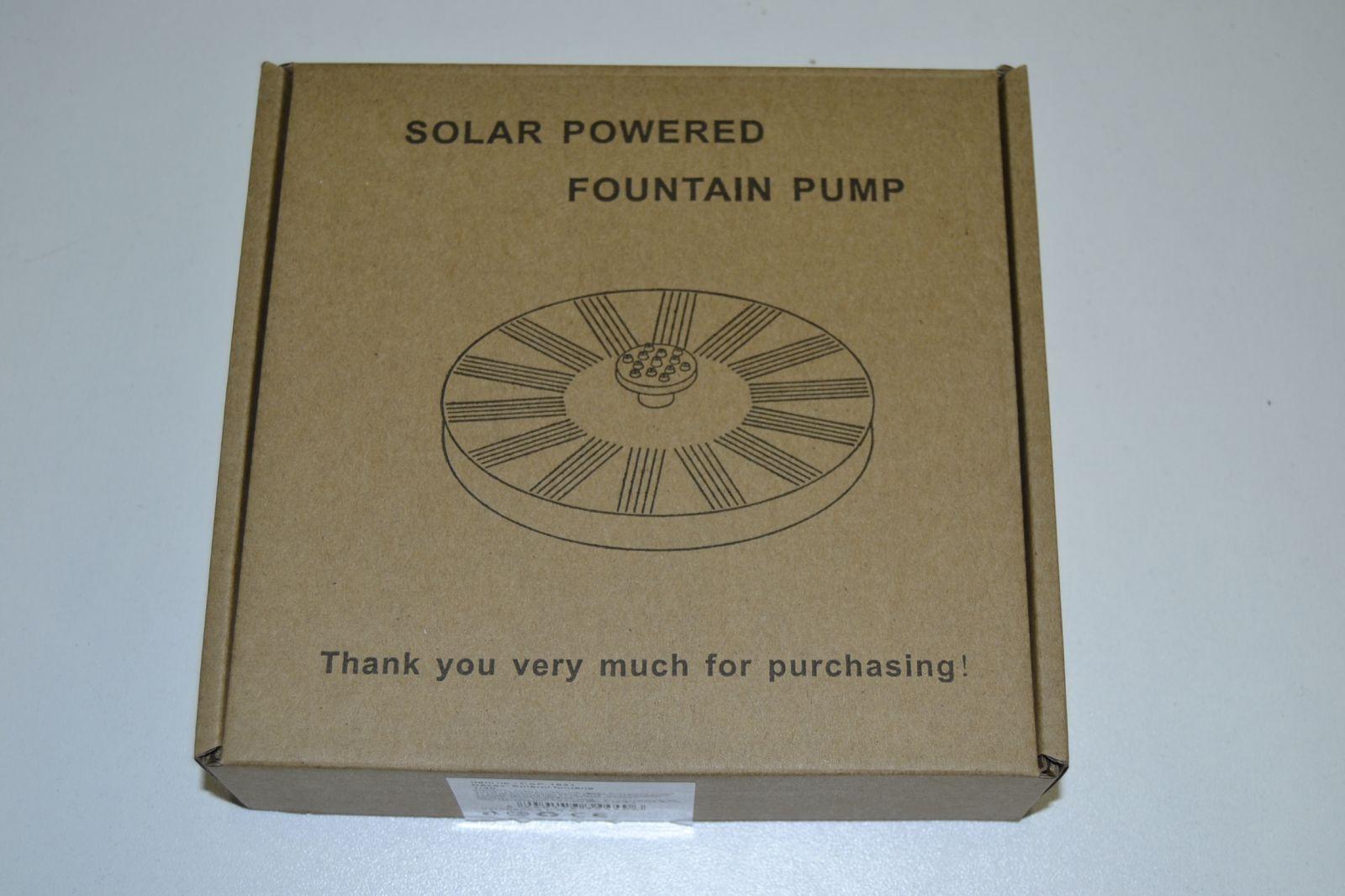 Solární fontánka do jezírka