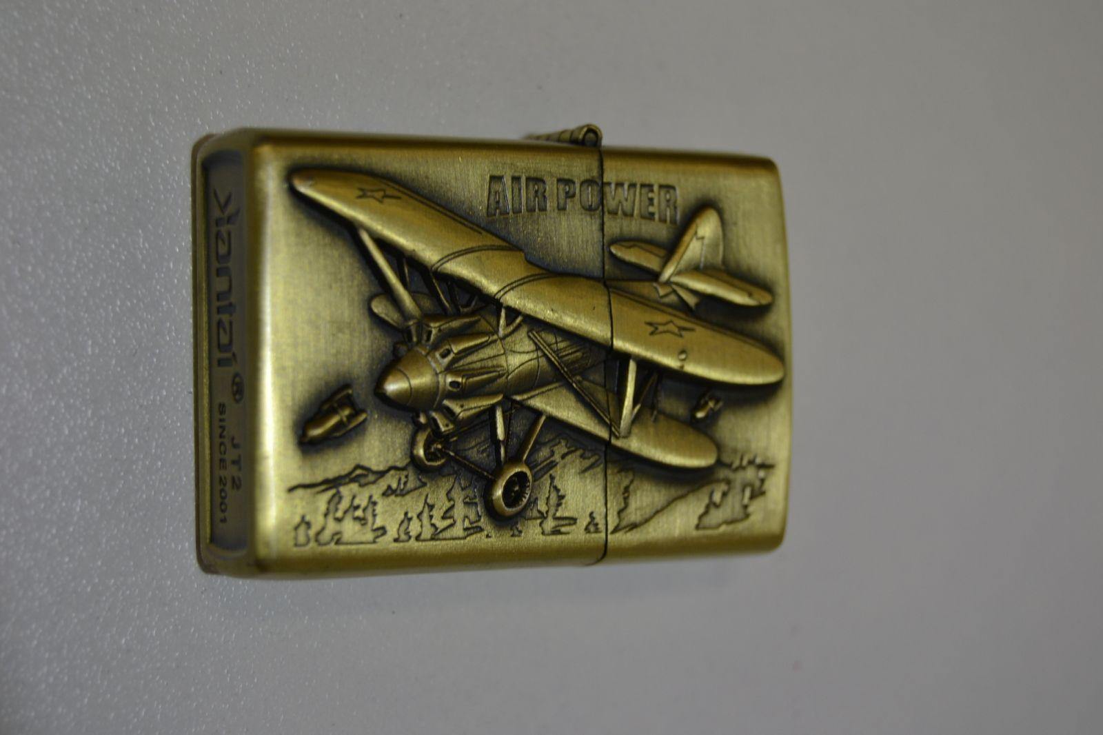 Benzínový zapalovač č. 77 air power - letadlo