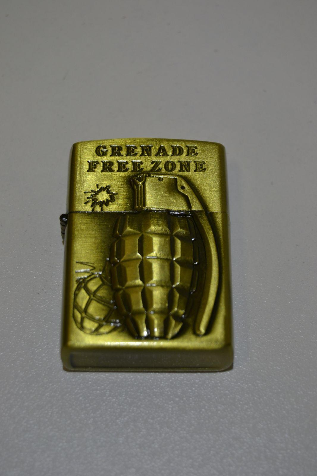Benzínový zapalovač č. 92 - granát - grenade free zone