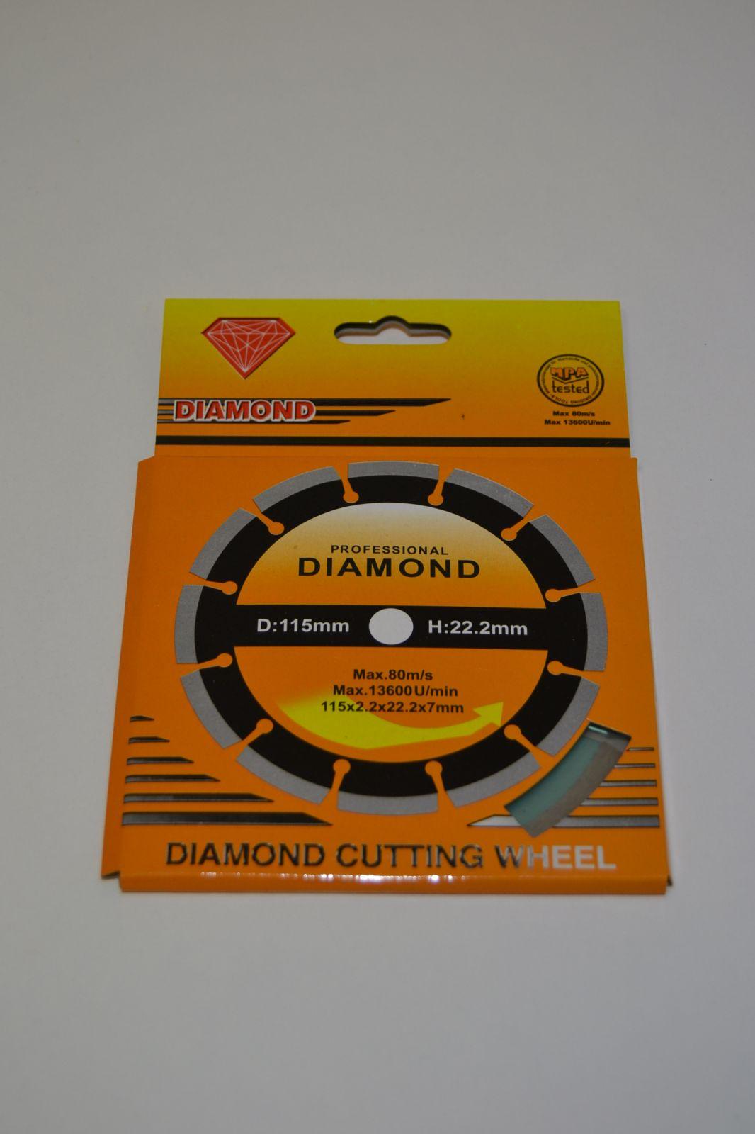 Diamantový řezný kotouč 115 mm - diamond
