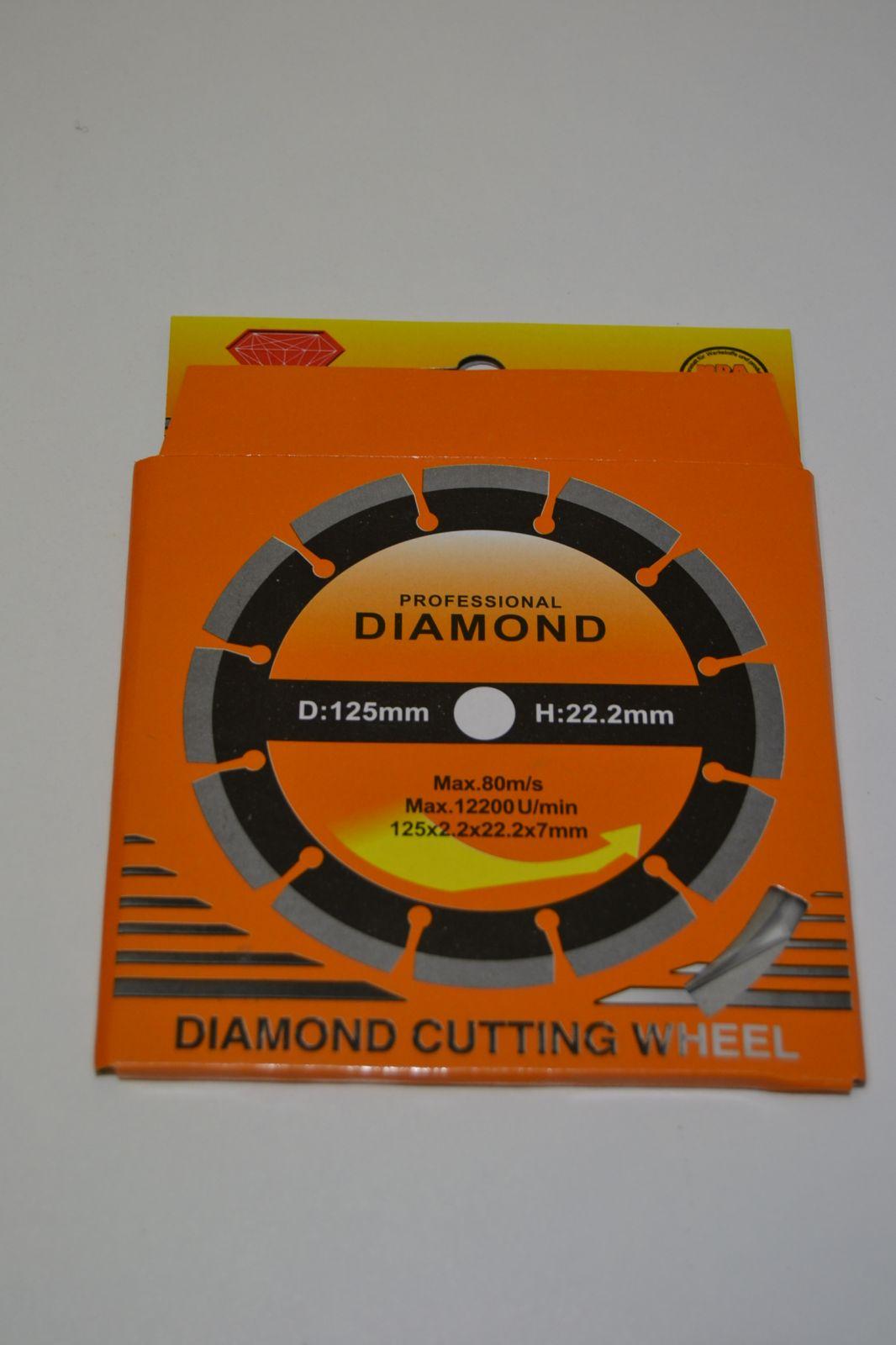 Diamantový řezný kotouč 125 mm - diamond