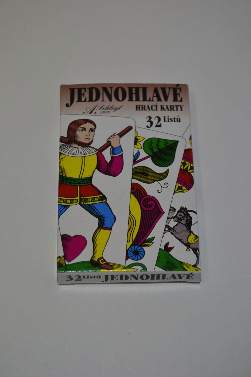 Hrací karty jednohlavé - 32 listů
