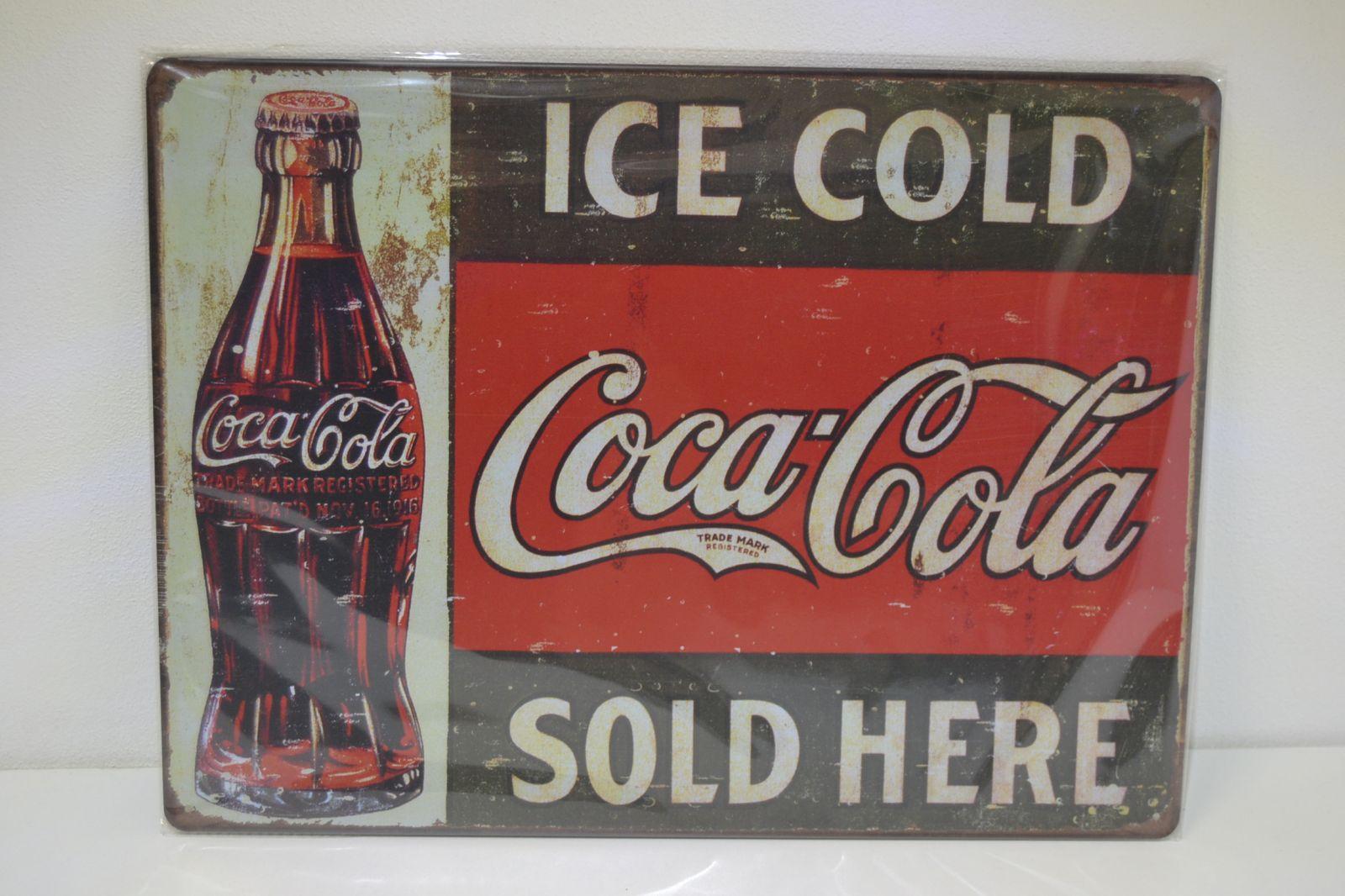 Plechová reklamní cedule 30 x 40 cm, coca cola 3