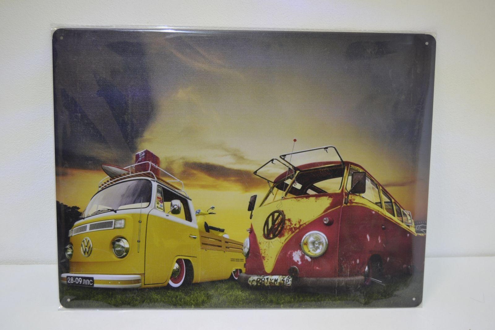 Plechová reklamní cedule 30 x 40 cm, volkswagen 2