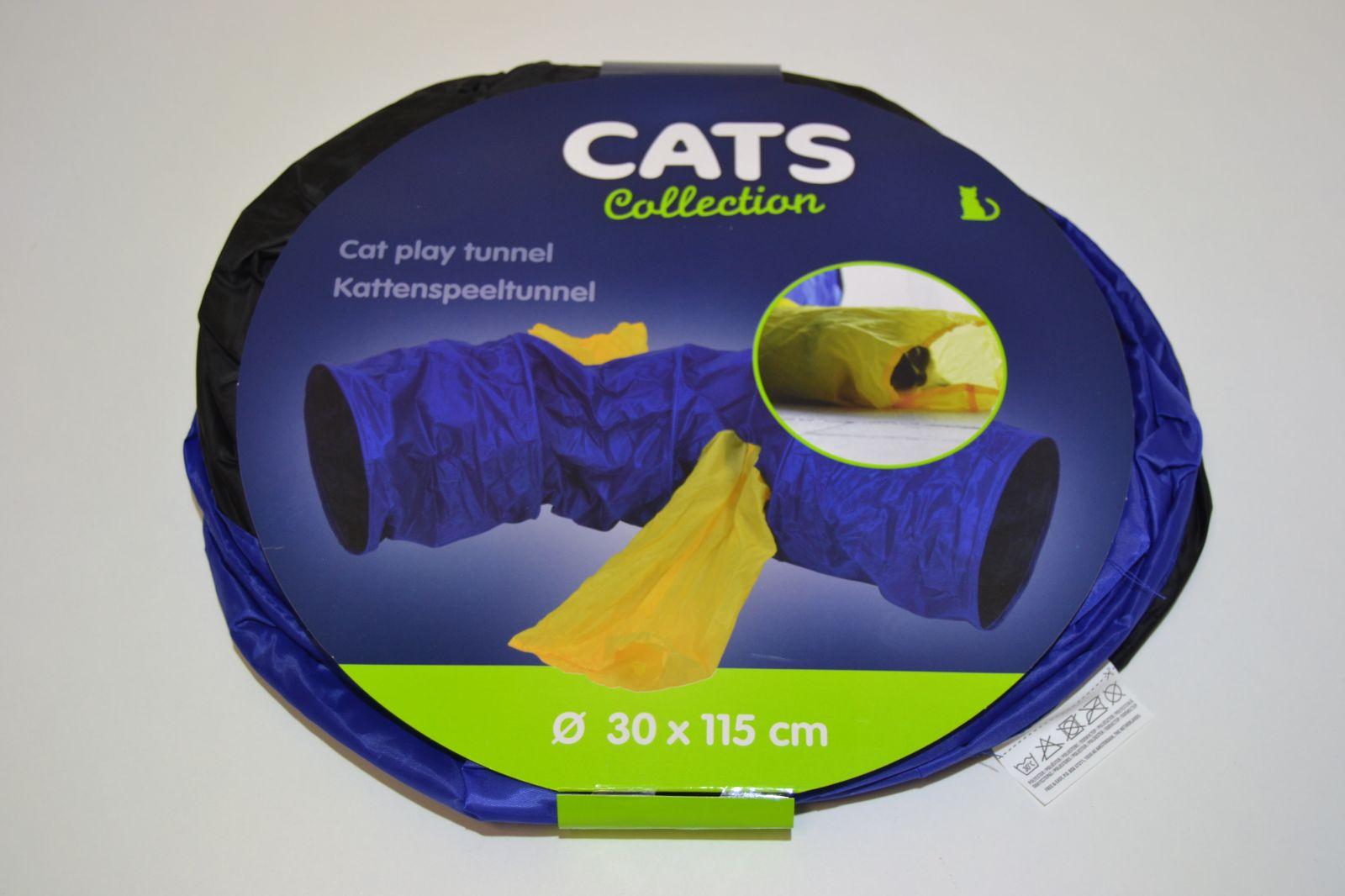 Prolézací tunel pro kočky 30 x 115 cm