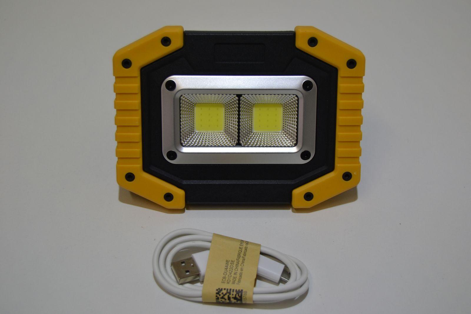 Akumulátorová montážní LED svítilna 2X COB