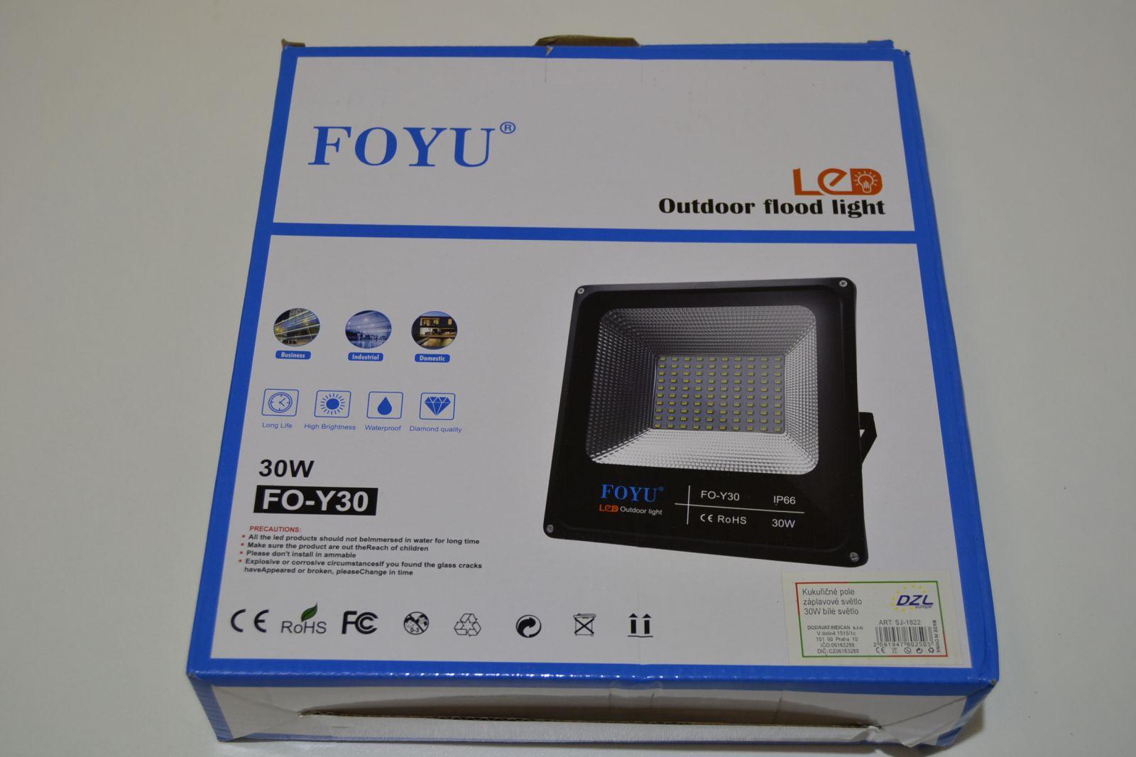 Plochý led reflektor - 30W - 60 led diod, halogen