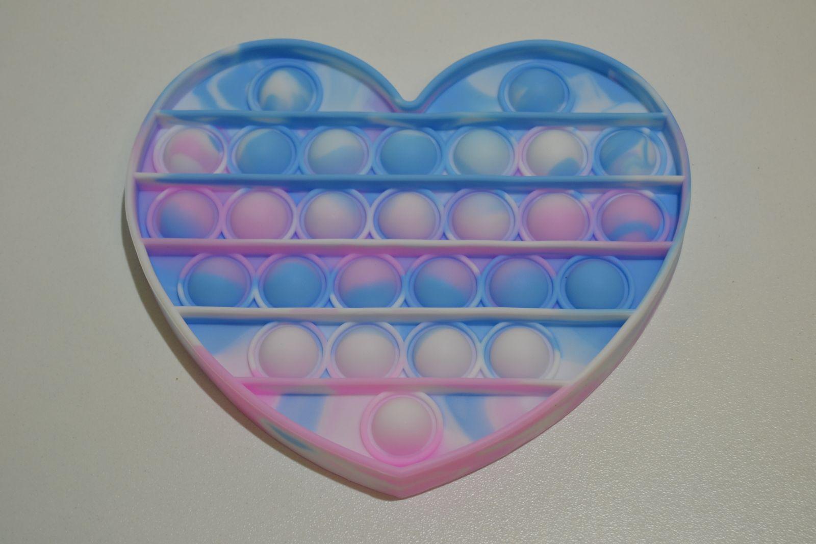 Pop it - antistresová hračka pastelové srdce