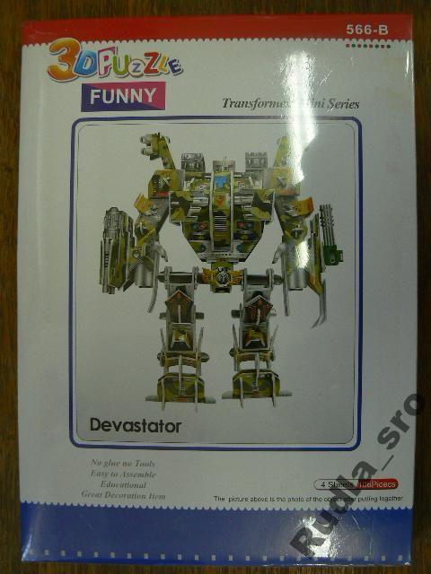 3D PUZZLE - ROBOT - DEVASTATOR