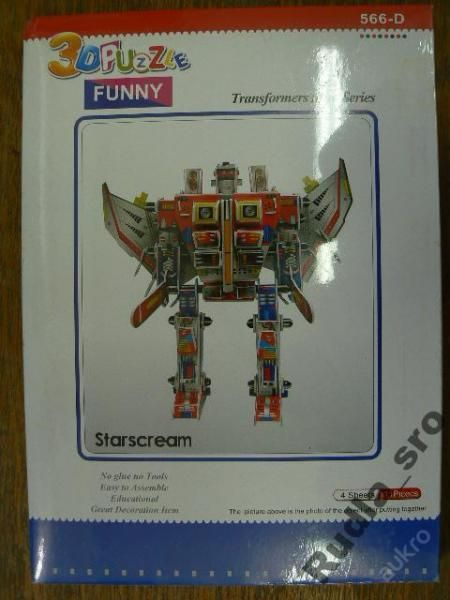 3D PUZZLE - ROBOT - STARSCREAM