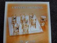 SPOLEČENSKÁ HRA - CRYSTAL DRINKING - TIC-TAC-TOE