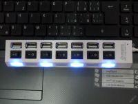 USB ROZBOČKA - HUB - SE SEDMI USB PORTY - HI SPEED