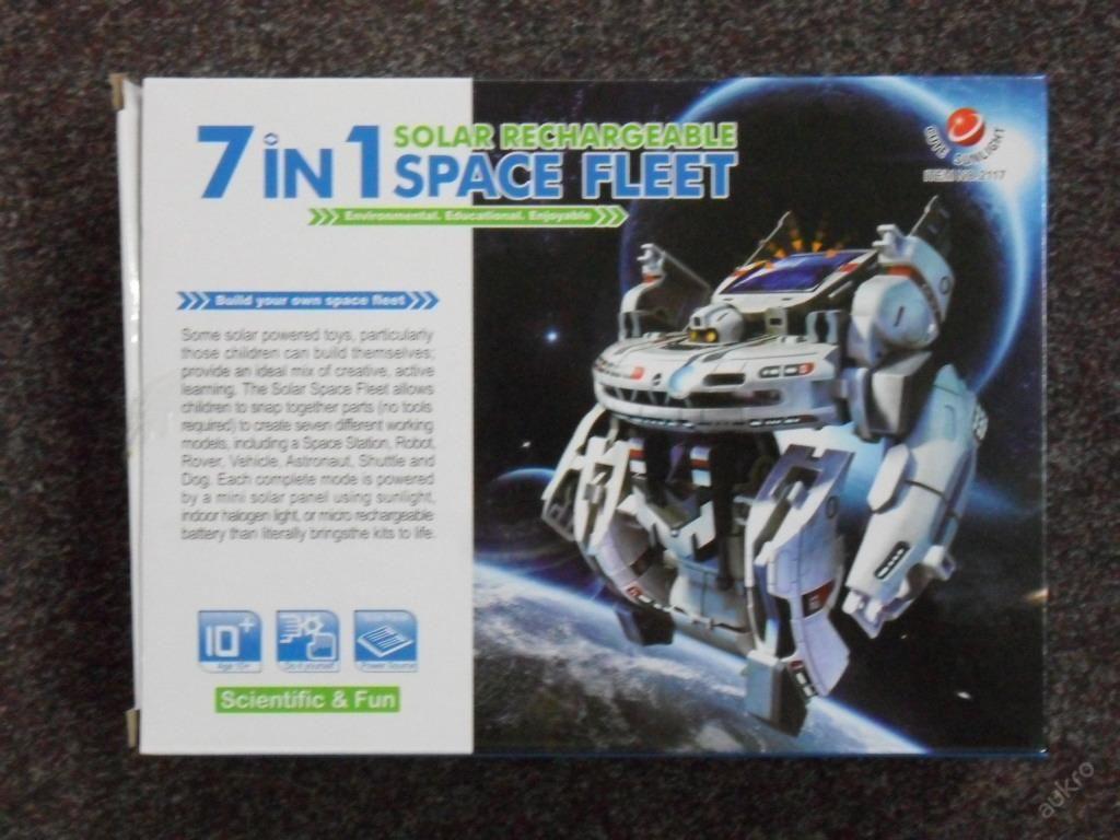 SOLÁRNÍ ROBOT 7v1 2117 - VESMÍRNÁ STAVEBNICE