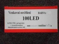 VENKOVNÍ VÁNOČNÍ OSVĚTLENÍ 100 LED - TEPLE BÍLÉ