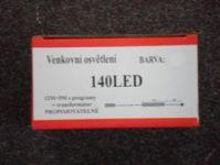 VENKOVNÍ VÁNOČNÍ OSVĚTLENÍ 140 LED - BÍLÉ