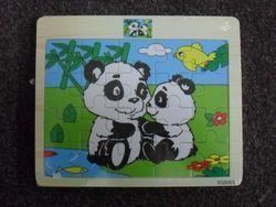 PUZZLE DŘEVĚNÉ - 20 DÍLKŮ -14,5 x 17cm PANDY 5003