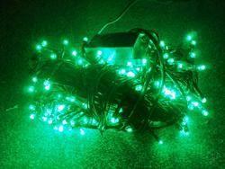 VÁNOČNÍ OSVĚTLENÍ 300 LED - ZELENÉ ZD, BLIKAČKY