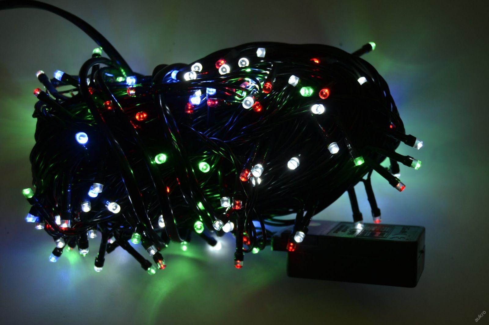 VÁNOČNÍ OSVĚTLENÍ 250 LED - BAREVNÉ ZD