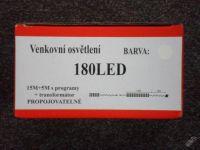 VENKOVNÍ VÁNOČNÍ OSVĚTLENÍ 180 LED - MODRÉ