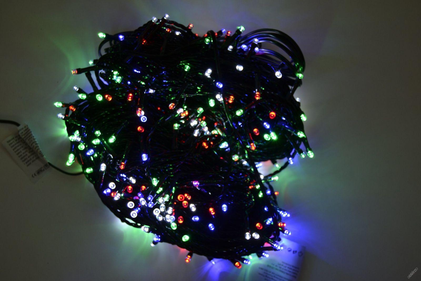 VENKOVNÍ VÁNOČNÍ OSVĚTLENÍ 500 LED - BAREVNÉ