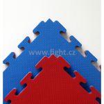 Xgym tatami ECONOMIC oboustranné, tl. 2 cm, 100 x 100 cm, červená/modrá